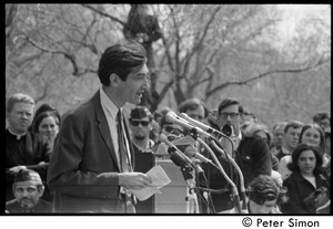 Thumbnail of Resistance on the Boston Common: Howard Zinn addressing the crowd