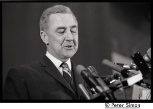 Thumbnail of Presidential candidate Eugene McCarthy speaking at Boston University