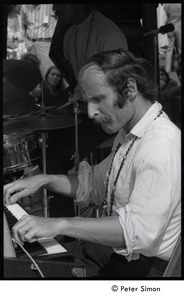 Thumbnail of Joe Zawinul on keyboards with the Cannonball Adderley Sextet, performing at Jackie Robinson's jazz concert