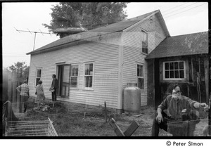 Thumbnail of Double exposure of house at Packer Corners commune