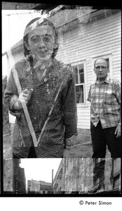 Thumbnail of Double exposure of Raymond Mungo and unidentified man, Packer Corners commune