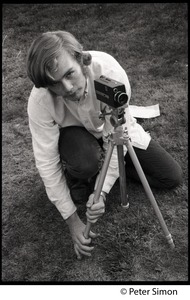 Thumbnail of Jeff Albertson with a 8mm motion picture camera