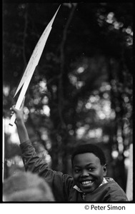 Thumbnail of Young African American boy at the George Wallace rally on Boston Common