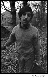 Thumbnail of Elliot Blinder, gathering firewood, Packer Corners commune