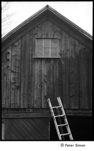 Thumbnail of Gable end of  the barn, with ladder: Packer Corners commune