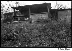 Thumbnail of Back porch of Packer Corners commune: view from lower down the hill