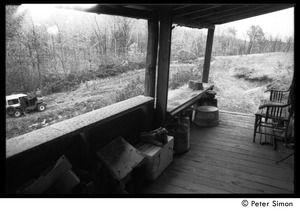 Thumbnail of Back porch of Packer Corners commune: view of the woods from the porch