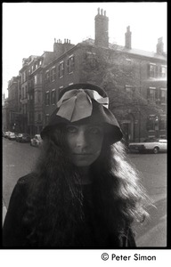 Thumbnail of Sarah, standing at an intersection, Beacon Hill