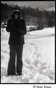 Thumbnail of Woman standing in the deep snow