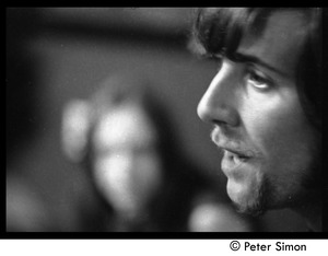 Thumbnail of Graham Nash: close-up portrait in profile