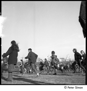 Thumbnail of Young people running at the Be-in, Central Park, New York City