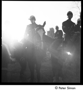 Thumbnail of Mounted police at the Be-In, Central Park, New York City
