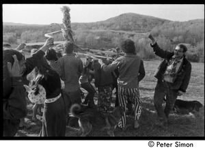Thumbnail of Revelers dancing around the Maypole, Packer Corners commune Includes Don McLean (far right)