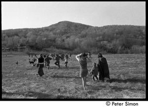 Thumbnail of After the Maypole celebration, Packer Corners commune: leaving the field