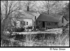 Thumbnail of After the Maypole celebration, Packer Corners commune: gathering at the house