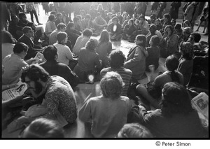 Thumbnail of MIT war research demonstration: demonstrators seated in a circle