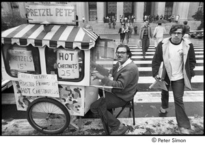 Thumbnail of MIT war research demonstration: 'Pretzel Pete' street vendor