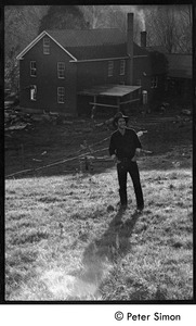 Thumbnail of Stephen Diamond standing in the fields above the commune, Montague Farm Commune