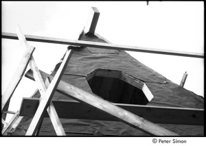 Thumbnail of James Taylor's house: attic window of Taylor's under construction house