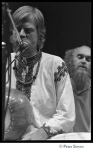 Thumbnail of Amazing Grace performing at Zellerbach Hall, U.C. Berkeley, with Allen Ginsberg Bhagavan Das and Ram Dass, singing