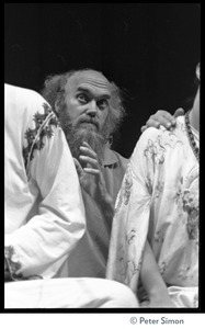 Thumbnail of Amazing Grace performing at Zellerbach Hall, U.C. Berkeley, with Allen Ginsberg Ram Dass peering between the shoulders of Bhagavan Das and Azima
