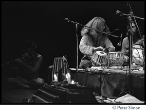 Thumbnail of Amazing Grace performing at Zellerbach Hall, U.C. Berkeley, with Allen Ginsberg Gangadhar (on tabla)