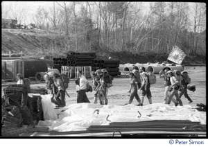 Thumbnail of Occupiers marching into place during the occupation of Seabrook Nuclear Power Plant