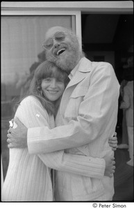 Thumbnail of Ram Dass and dad at mum's: Ronni Simon and Ram Dass embracing