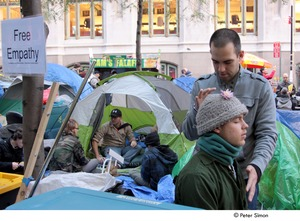 Thumbnail of Occupy Wall Street: healer dispensing 'free empathy'