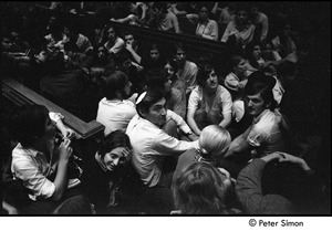 Thumbnail of Sanctuary movement and occupation of Marsh Chapel: protestors on floor, Howard Zinn at center-bottom