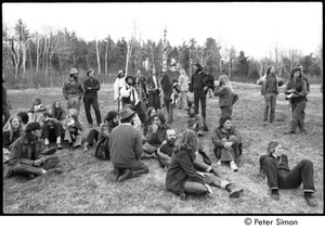 Thumbnail of May Day at Packer Corners commune: group sitting and standing in a field