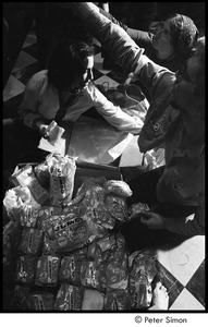Thumbnail of Sanctuary movement and occupation of Marsh Chapel: protestors preparing sandwiches for distribution