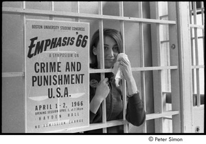 Thumbnail of Woman posing in cell with handkerchief