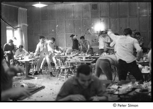 Thumbnail of Food fight in a Boston University dining hall