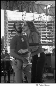 Thumbnail of MUSE concert and rally: John Hall and Carly Simon performing at the No Nukes rally