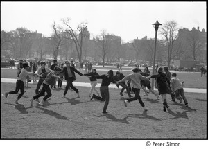 Thumbnail of Be-in on Boston Common: participants holding hands in a circle