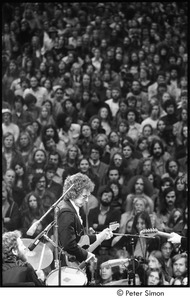 Thumbnail of Bob Dylan with the Band: Dylan with Levon Helm on drums