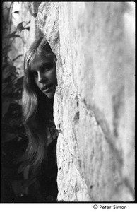 Thumbnail of 'Nel' posing by stone wall