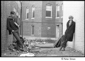 Thumbnail of Stephen Davis (left) and David Silver posing in an alley