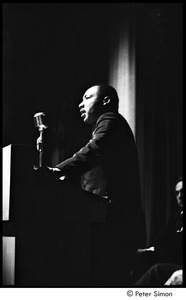 Thumbnail of Martin Luther King Jr. rally at the Fieldston School: Martin Luther King Jr. speaking