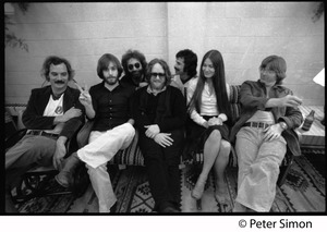 Thumbnail of Grateful Dead group shot Left to right: Bill Kreutzman, Bob Weir, Jerry Garcia, Keith Godchaux, Mickey Hart, Donna Jean             Godchaux, Phil Lesh