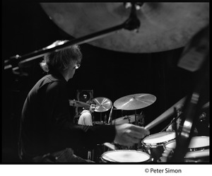 Thumbnail of Bill Kreutzman (Grateful Dead) playing drums in concert Mickey Hart visible in background