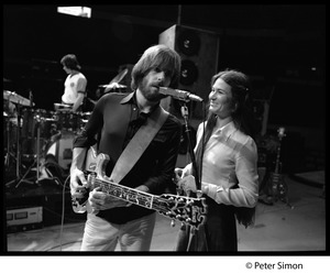 Thumbnail of Grateful Dead rehearsing: Bob Weir singing, with Donna Godchaux