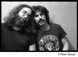 Thumbnail of Jerry Garcia and Mickey Hart: half-length double portrait