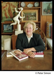 Thumbnail of Rosabeth Moss Kanter, seated at a table with her books