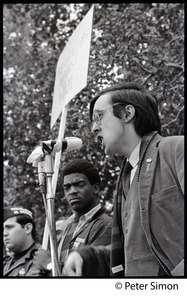 Thumbnail of Raymond Mungo speaking at The Resistance antiwar rally on the Boston Common