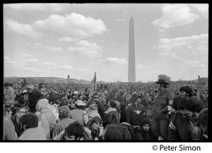 Thumbnail of Sea of protesters with Washington Monument in background: Vietnam Moratorium march on Washington