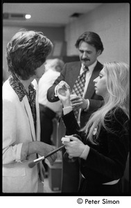 Thumbnail of Mick Jagger in make-up for his appearance with Peter Tosh on Saturday Night Live