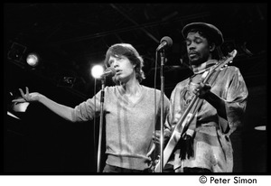 Thumbnail of Mick Jagger (left) performing with Peter Tosh on Saturday Night Live