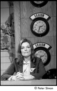 Thumbnail of Jane Curtin on Weekend Update set, Saturday Night Live